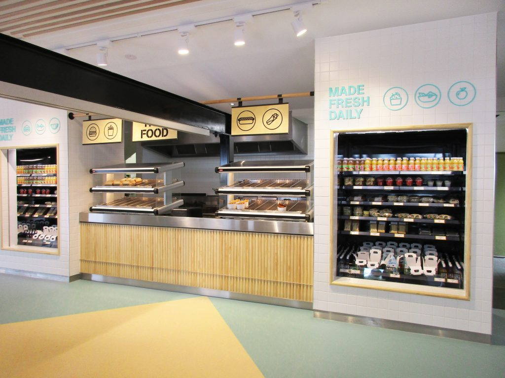 Internal cafe design, Zebra Cafe, Melbourne Zoo.