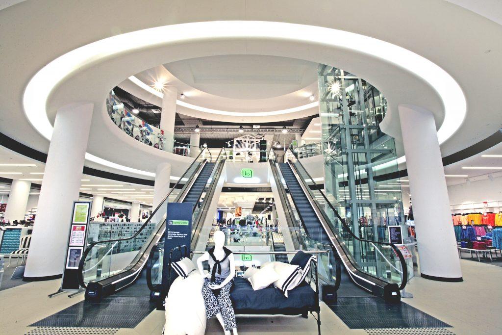 harris scarfe adelaide city escalators