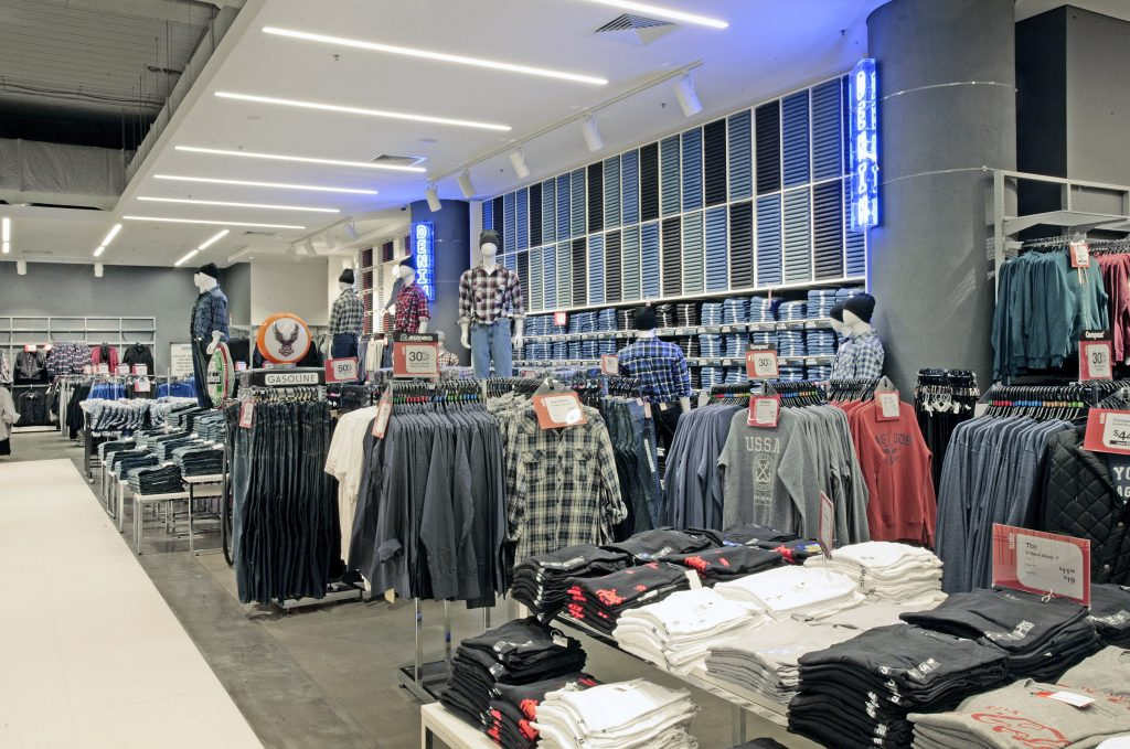 harris scarfe adelaide city jeans wall